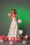 Bride and balloons Royalty Free Stock Images