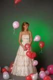 Bride and balloons Stock Photos
