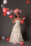 Bride and balloons Royalty Free Stock Photo