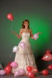 Bride and balloons Royalty Free Stock Photos