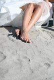 Bride on the beach Stock Photography