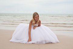 Bride on a beach Stock Photos