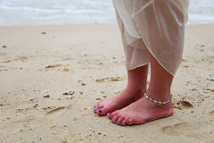 Bride at the beach. Stock Photography