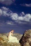 Bride at the beach Royalty Free Stock Photos