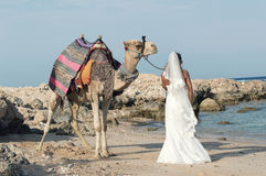 Bride on the beach Royalty Free Stock Photo