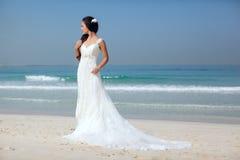 Bride At Beach Wedding Royalty Free Stock Image