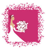 Bride beautiful with bouquet Stock Image