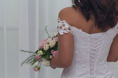 Bride in a beautiful dress Royalty Free Stock Photo