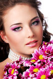 Bride with beautiful eyes Royalty Free Stock Photos