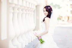 Bride. Beautiful bride on her wedding day in Kiev Royalty Free Stock Photo