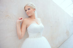 Bride. Beautiful bride outdoors. Wedding Day stock photography
