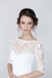 Bride. Beautiful bride in wedding dress stock images