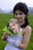 Bride. Beautiful bride in a white dress Stock Image