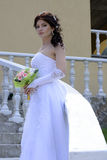 Bride. Beautiful bride in a white dress Stock Photo