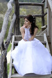 Bride. Beautiful bride in a white dress Royalty Free Stock Photos