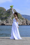 Bride. Beautiful bride in a white dress Royalty Free Stock Photography