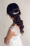 Bride beautiful woman in wedding dress - style Stock Photo