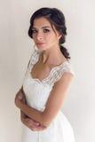 Bride beautiful woman in wedding dress - style Stock Photos