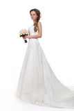 Bride beautiful woman in wedding dress - wedding style Royalty Free Stock Images