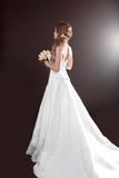 Bride beautiful woman in wedding dress - wedding style Stock Photos