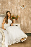 Bride on a Bed Stock Image