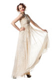 Bride in beige dress Royalty Free Stock Photography