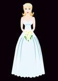 Bride on black background Stock Images