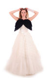 Bride with black wings Royalty Free Stock Image