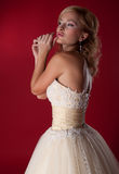 Bride blonde wedding model . Stock Photos