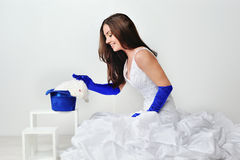 Bride in blue Royalty Free Stock Photo