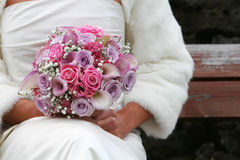 Bride and bouqet Stock Photography