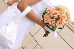 Bride and bouquet Royalty Free Stock Image