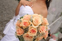 Bride and bouquet Royalty Free Stock Photos