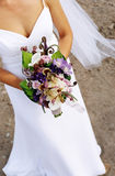 Bride & bouquet Stock Photo