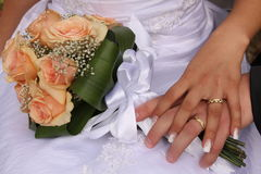 Bride and bouquet Royalty Free Stock Photography