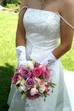 Bride with bouquet Stock Image