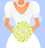 Bride with a bouquet Royalty Free Stock Photos