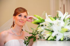 The bride with a bouquet Royalty Free Stock Images