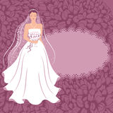 Bride with a bouquet. Royalty Free Stock Images