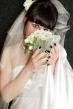 Bride with the bouquet Royalty Free Stock Image