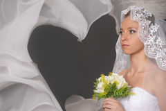 The bride with a bouquet Stock Image