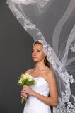 The bride with a bouquet Royalty Free Stock Photography