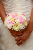 Bride and bouquet. Royalty Free Stock Image