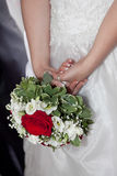 Bride bouquet. Red roses and white flowers bride bouquet Stock Image