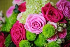 Bride bouquet. Brides flowers closeup at wedding Royalty Free Stock Photos
