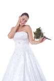 Bride with bouquet Stock Photo