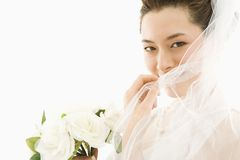 Bride with bouquet. Royalty Free Stock Images