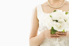 Bride with bouquet. Stock Image