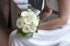 Bride and bouquet Stock Photos