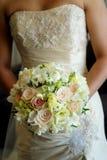 Bride & bouquet Royalty Free Stock Photos